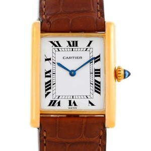 Cartier Cartier Tank Classic Vintage 18k Yellow Gold Ultra Thin Mechanical Watch