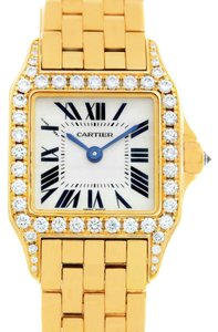 Cartier Cartier Santos Demoiselle 18k Yellow Gold Diamond Ladies Watch WF9001Y7