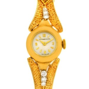 Tiffany & Co. Tiffany 14k Yellow Gold Diamond Vintage Cocktail Watch 4803