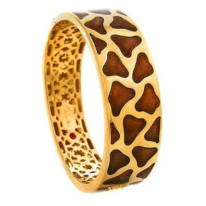 Other Roberto Coin Natura Giraffe 18k Yellow Gold Enamel Bracelet Limited Ed. FV12A