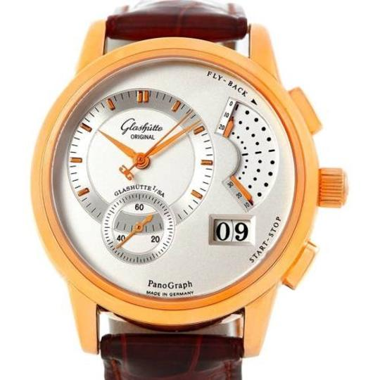 Glashutte Glashutte Panograph Manual 18k Rose Gold Watch 61-03-25-15-04 Image 0