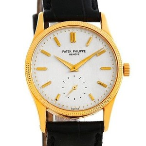 Patek Philippe Patek Philippe Calatrava 18k Yellow Gold Mens Watch 3796