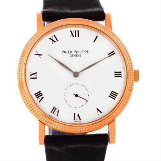 Patek Philippe Patek Philippe Calatrava 18k Rose Gold Porcelain Dial Watch 3919