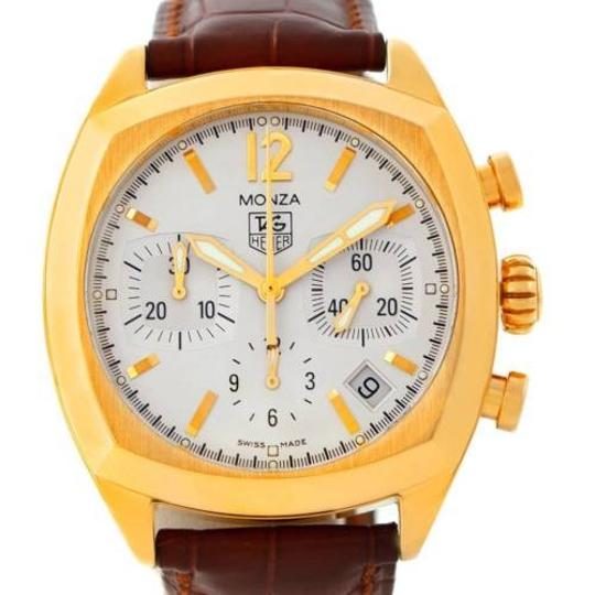 TAG Heuer Tag Heuer Monza Chronograph 18k Yellow Gold Watch CR514A.FC8145