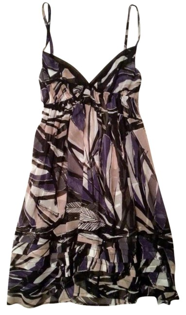 Urban Outfitters short dress Black Empire Waist Print Adjustible Straps See Through on Tradesy