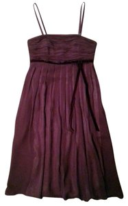 Ann Taylor Bow Removable Straps Chiffon Empire Waist Dress