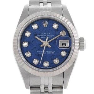 Rolex Rolex Datejust Ladies Steel White Gold Sodalite Diamond Watch 79174