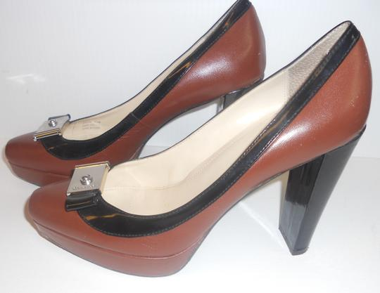 Calvin Klein brown with black trim Pumps
