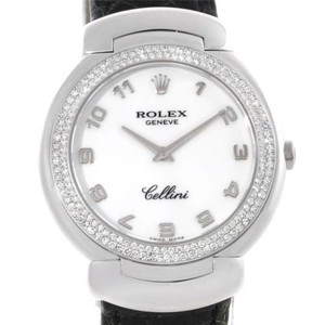 Rolex Rolex Cellini 18k White Gold Diamond Ladies Watch 6681 Unworn