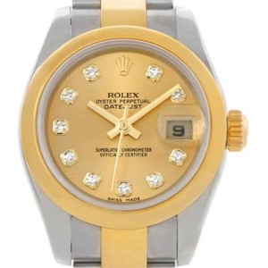 Rolex Rolex Datejust Ladies Steel 18k Yellow Gold Watch 179163