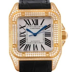 Cartier Cartier Santos Midsize 18k Yellow Gold Diamond Watch Wm502051