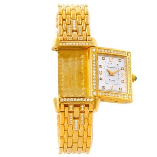 Jaeger-LeCoultre Jaeger Lecoultre Reverso 18k Yellow Gold Ladies Watch 267.1.86 Image 6
