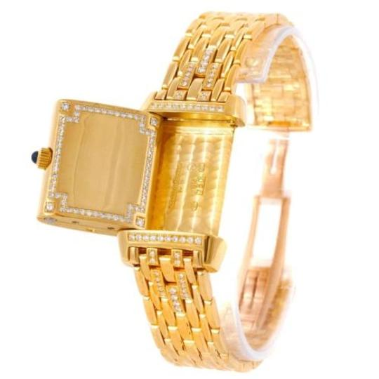 Jaeger-LeCoultre Jaeger Lecoultre Reverso 18k Yellow Gold Ladies Watch 267.1.86 Image 9