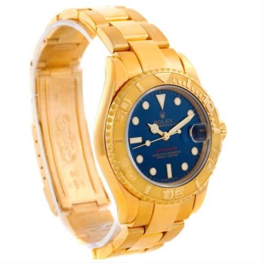 Rolex Rolex Yachtmaster Midsize 18k Yellow Gold Blue Dial Watch 68628