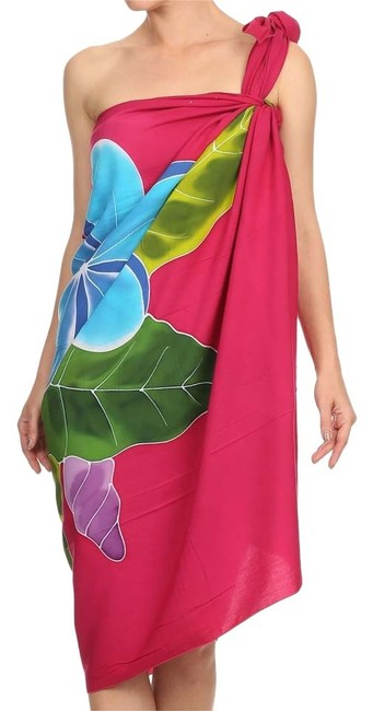 Preload https://img-static.tradesy.com/item/3455020/magenta-hand-painted-floral-wrap-cover-upsarong-size-os-one-size-0-0-650-650.jpg