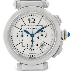 Cartier Cartier Pasha Mm Chronograph Mens Watch W31085m7 Unworn