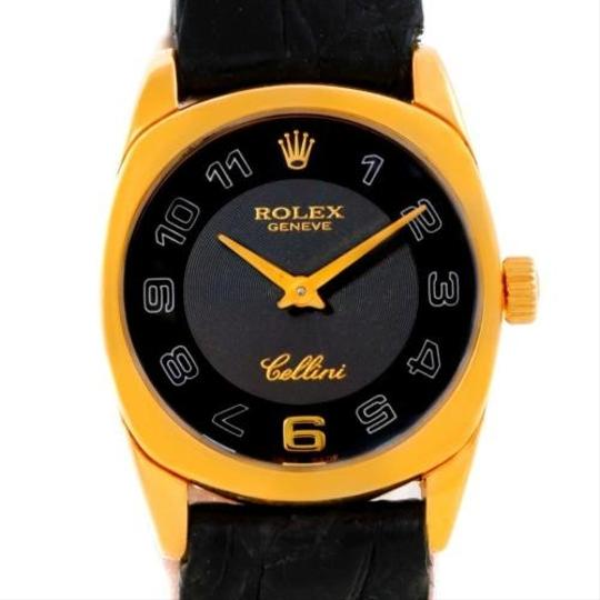 Rolex Rolex Cellini Danaos Ladies 18k Yellow Gold Black Dial Watch 6229