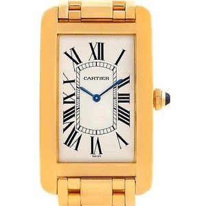 Cartier Cartier Tank Americaine 18k Yellow Gold Mechanique Privee Mens Watch