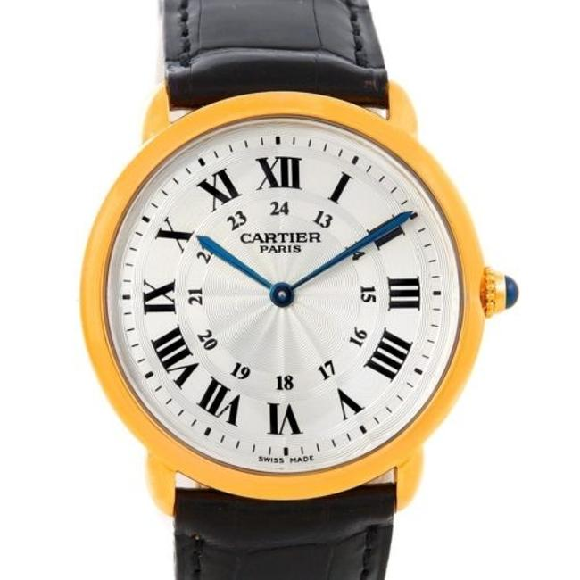 Cartier Silver Ronde Louis Privee 18k Yellow Gold Watch Cartier Silver Ronde Louis Privee 18k Yellow Gold Watch Image 1