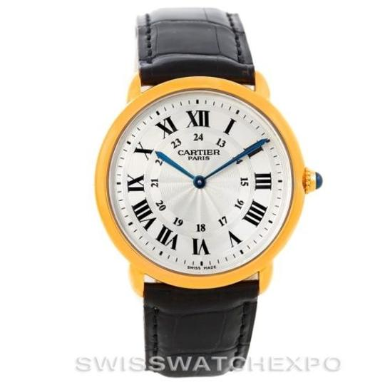 Cartier Cartier Ronde Louis Privee 18k Yellow Gold Watch Image 2