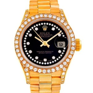 Rolex Rolex President Ladies 18k Yellow Gold String Diamond Watch 69158