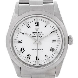Rolex Rolex Oyster Perpetual Air King White Roman Dial Watch 14000