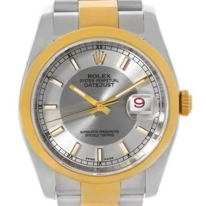 Rolex Rolex Datejust Mens Steel 18k Yellow Gold Watch 116203