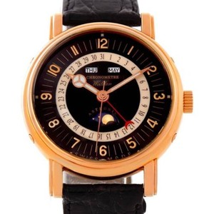 Walden Waldan Astronic Triple Date Moonphase 18k Rose Gold Watch
