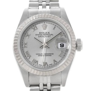 Rolex Rolex Datejust Ladies Steel 18k White Gold Watch 79174
