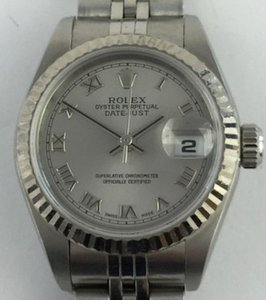 Rolex Rolex Date-Just with 18k fluted bezel