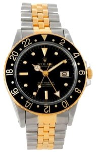 Rolex Rolex Gmt Vintage Master Mens 18k Gold Steel Watch 16753