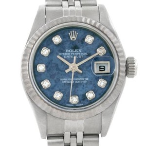 Rolex Rolex Datejust Ladies Steel 18k White Gold Diamond Watch 79174