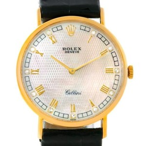 Rolex Rolex Cellini Classic Yellow Gold Mother Of Pearl Diamond Watch 5112