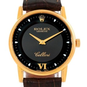 Rolex Rolex Cellini Classic 18k Yellow Gold Black Dial Watch 5116