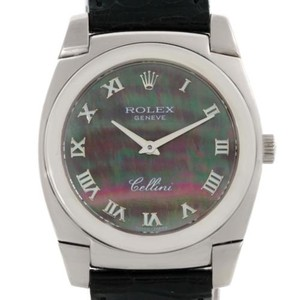 Rolex Rolex Cellini Cestello 18k White Gold Mother Of Pearl Watch 5320