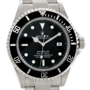 Rolex Rolex Seadweller Stainless Steel Black Dial Mens Watch 16600