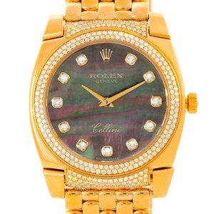 Rolex Rolex Cellini Cestello 18k Yellow Gold Mop Diamond Watch 6321