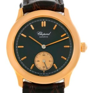Chopard Chopard Classique 18k Rose Gold Black Dial Watch 161168