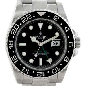 Rolex Rolex Gmt Master Ii Mens Ceramic Bezel Stainless Steel Watch 116710
