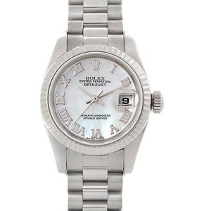 Rolex Rolex President Ladies 18k White Gold Watch 179179