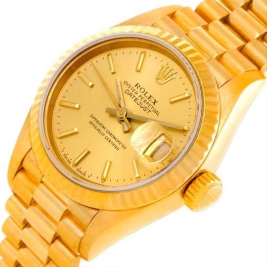 Rolex Rolex President Ladies 18k Yellow Gold Champagne Dial Watch 69178