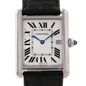 Cartier Cartier Tank Louis Mens 18k White Gold Date Watch W1540956