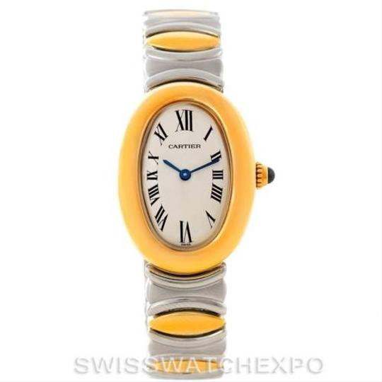 Cartier Cartier Baignoire Ladies Steel 18k Yellow Gold Watch W15045d8