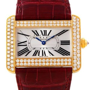 Cartier Cartier Tank Divan 18k Yellow Gold Diamond Watch WA301170