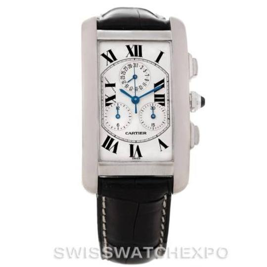 Cartier Cartier Tank Americaine Chronograph 18k White Gold Watch W2603358
