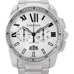 Cartier Cartier Calibre Steel Chronograph Mens Watch W7100045
