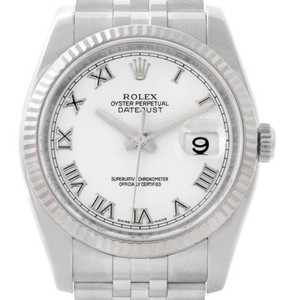 Rolex Rolex Datejust Mens Steel 18k White Gold Watch 116234