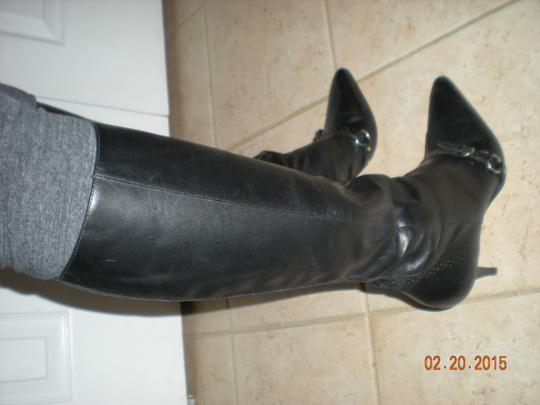 Audrey Brooke Leather Leather Size 8 Leather black Boots