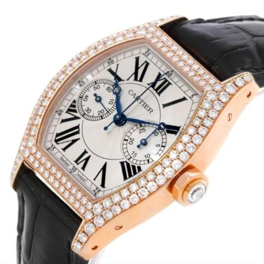 Cartier Cartier Tortue Monopoussoir Chronograph 18k Rose Gold Diamond Watch