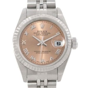 Rolex Rolex Datejust Ladies Steel 18k White Gold Salmon Roman Watch 79174